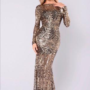 Gold Sequin Dress- Formal
